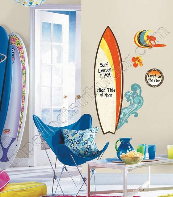 7cd45c655 RoomMates Adesivo de Parede - Prancha de Surf (Você pode escrever o que  desejar!)