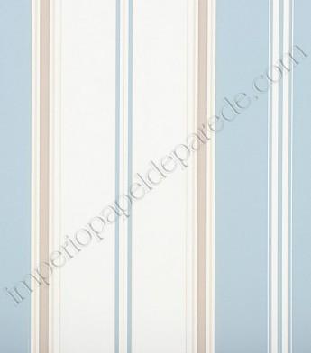 0d9435e9f 03 - Papel de Parede Vinílico Classic Stripes (Americano) - Listras (Azul  Claro  Tons de Bege  Branco)