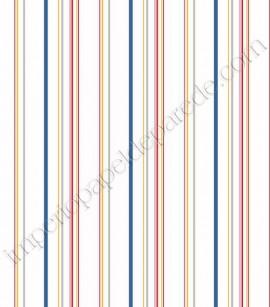 PÁG. 212 - Papel de Parede Vinílico Disney York II (Americano) - Listras (Azul/ Amarelo/ Vermelho/ Cinza/ Branco)