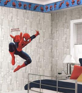 PÁG. 218 - Faixa Vinílica Decorativa Disney York II (Americano) - Homem-Aranha (Tons de Azul/ Vermelho)